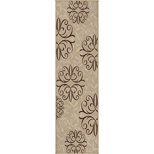 Orian Rugs Four Seasons Indoor/Outdoor Josselin Whisper Runner Rug, 2'3