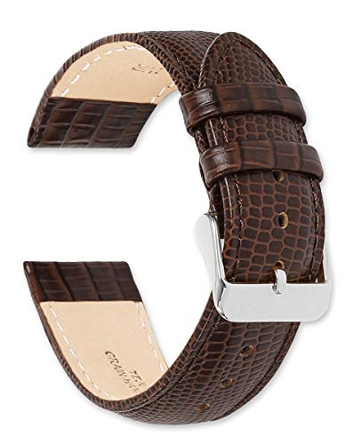 deBeer Leather Watch Strap - Teju Lizard Grain - Brown 18mm Watch Band