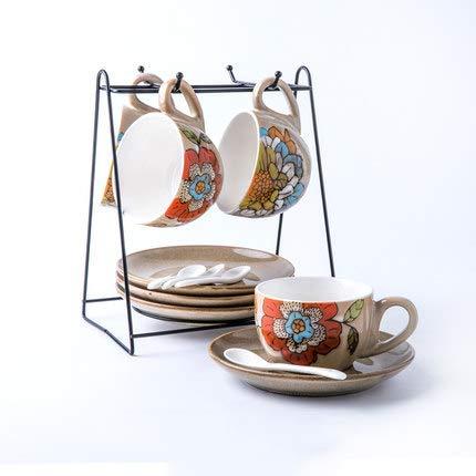 Tazas de café tradicional Artesanía chino de la flor de carrera ...