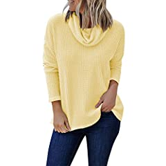 1def6326568be NRUTUP Women Pullover Casual Long Sleeve Solid Shi .