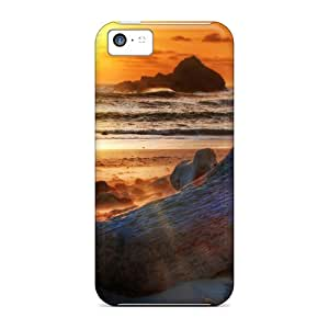 Iphone 5c Wew2964Ouyo Driftwood On The Beach At Sunset Hdr Tpu Silicone Gel Case Cover. Fits Iphone 5c
