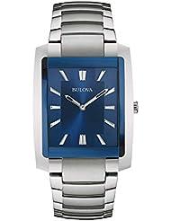 Bulova Men's Quartz Stainless Steel Dress Watch, Color:Silver-Toned (Model: 96A169)