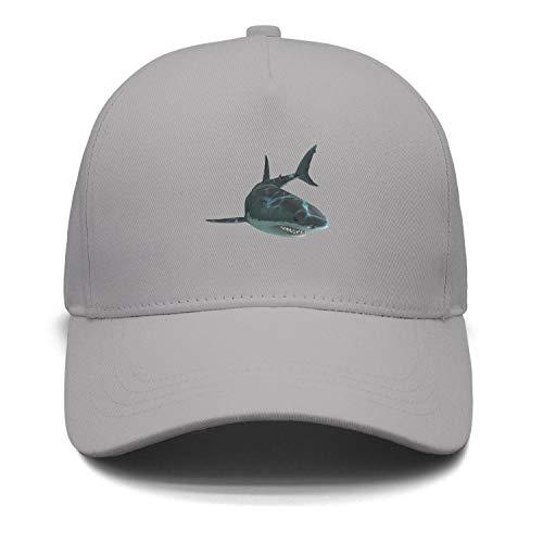 (Unisex Jaws Unleashed Shark Angry Art Snapback Hats Adjustable Fashion caps)