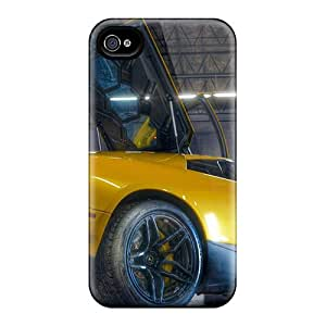 High-quality Durable Protection Cases For Iphone 4/4s(yellow Lambroghini In A Garage Hdr)