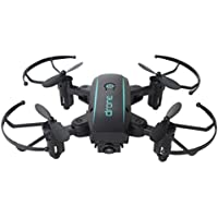 Fineser 1601HW RC Quadcopter Drone with 0.3MP HD Camera RTF 4 Channel 2.4GHz 6-Gyro with Headless Mode , Foldable Arms , Altitude Hold , and One Key Return Home (Black)