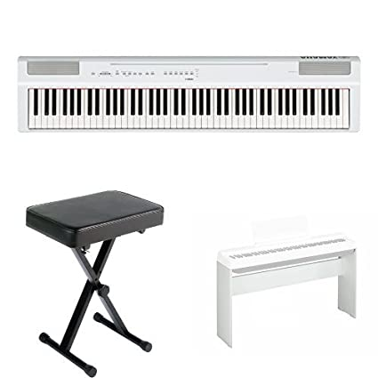 Upright Pianos Ef Bd 9cproducts Ef Bd 9ckawai Musical Instruments >> Yamaha P125 Digital Piano Home Bundle With Furniture Stand And Bench White