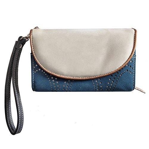 Stylische Handtasche: Circus Beige/Blue vom Trend-Label Hi-Di-Hi XbozfoRz