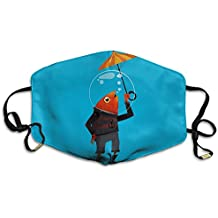 HYEECR Fish Take Umbrella Face Mask, Reuseable Polyester Face Mouth Mask Respirator For Cycling Anti-Dust For Men Women Kids