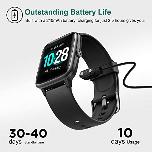 Letsfit Smart Watch, Fitness Tracker with Heart Rate Monitor, Activity Tracker with 1.3″ Touch Screen, IP68 Waterproof Pedometer Smartwatch with Sleep Monitor, Step Counter for Women and Men 41ziGRnfoEL