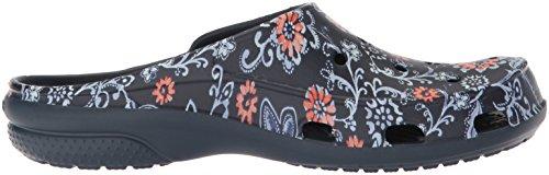 Crocs Women's Freesail Graphic Clogs Blue (Navy/Floral) YSM4zxpm
