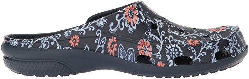 Crocs floral Freesail Sabots Women navy Femme Graphic Clog Bleu PvwrxqPTn