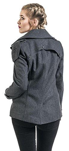 Musterbrand Dragon Age Chaqueta Mujer Seeker Wool Peacoat Gris M