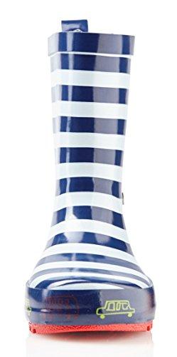 smileBaby Gummistiefel für Kinder Verschiedene Farben Motive und Größen für Mädchen und Jungen Geeignet Blau / Weiß