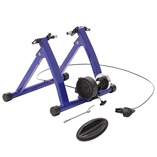 URSTAR Magnet Steel Bike Bicycle Indoor Exercise Trainer Stand with Flywheel in Blue