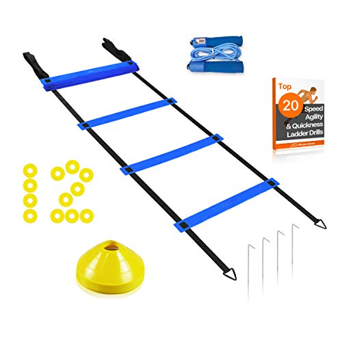 Superbeat Speed Agility Training Set - Agility Ladder (20 ft Long 20