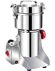 Moongiantgo Elektrische Grain Grinder Kruid Spice Superfine Mill Roestvrij staal & 36000RPM Commerciële Motor, voor Kruiden/Kruiden/Moer/Granen, met Bescherming van Overbelasting & Open-Cover-Stop