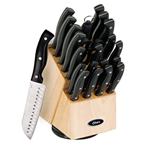 Oster 70555.22 Winsted 22-Piece Cutlery Swivel Block Set, Brushed Satin