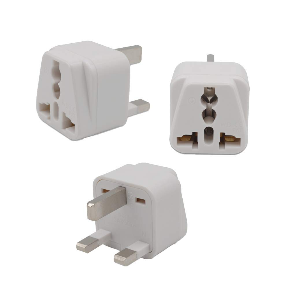 2 Pack Universal Type D Ckitze BA10-2PK 2 In 1 USA To India Adapter Plug