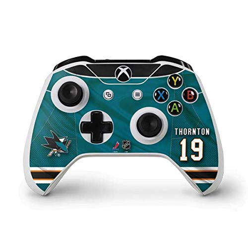 Skinit San Jose Sharks #19 Joe Thornton Xbox One S Controller Skin - Officially Licensed NHL Players Gaming Decal - Ultra Thin, Lightweight Vinyl Decal Protection