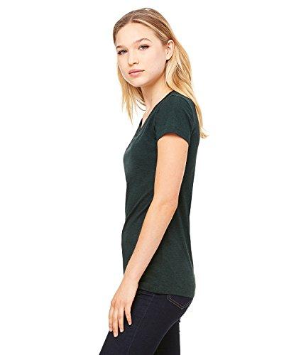 (Bella Womens Cameron Tri-Blend Crewneck Short Sleeve T-Shirt - Large - EMERALD)