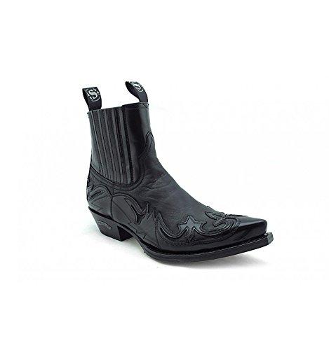 Botines Negros Piel Camperos Dibujo Sendra 4660 - Negro, 39, 4660: Amazon.es: Zapatos y complementos