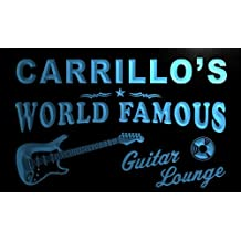 pf1675-b Carrillo's Guitar Lounge Beer Bar Pub Room Neon Light Sign