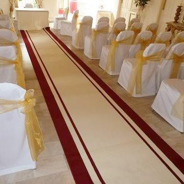 Stripe Cream - Wedding Aisle Carpet Runner Carpet Runners UK