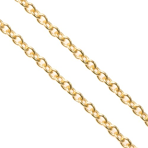 12 Inches 14k Gold Filled 1.2mm Oval Ring Rolo Footage Chain / Findings