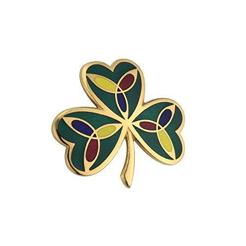 Tara Irish Brooch Gold Plated Shamrock Pin Made in Ireland