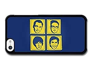 AMAF ? Accessories Big Bang Theory Yellow and Blue Illustration Faces case for iPhone 5C