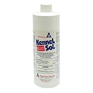 KennelSol Dog Crate Cleaner and Disinfectant | Cleaning Concentrate, Effective Against Bacteria & Viruses, Parvo Disinfectant | Kennel Cleaner | 1 Pint
