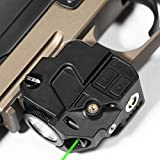 Firefly V2 Flashlight Laser Sight | Strobe Function | Combat Veteran Owned Company | Pistols | Rifles | 220 Lumens | Magnetic Charging | Laser Flashlight Combo For Handgun | Gun Light (Green-Laser)