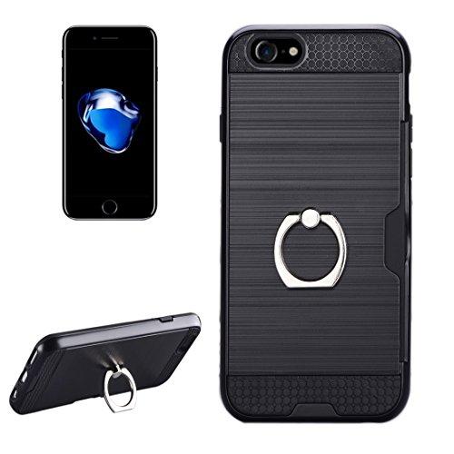 727089d82a IPhone 7ケース、リングホルダースタンド&カードスロット付きテクスチャメタルプロテクティブバックケース ,iPhone7用ケース ( SKU :  Ip7g5016b )