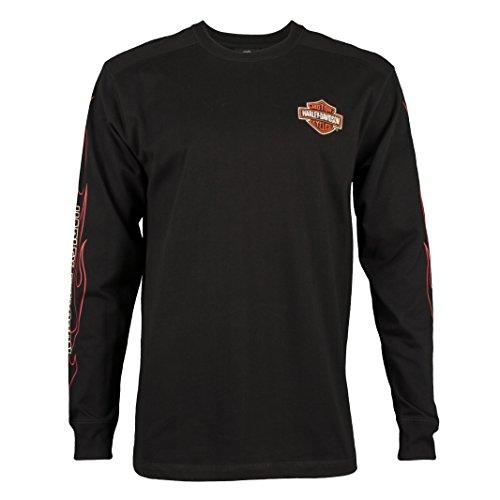 Harley-Davidson Men's Flame Graphics Long Sleeve Shirt 99042-09VM (Medium)