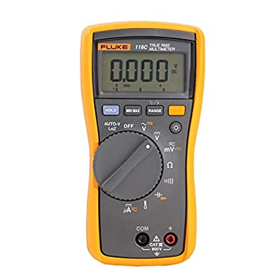 116, CAT III, 600 VAC/VDC, Digital True RMS Auto Ranging Manual Ranging Multimeter
