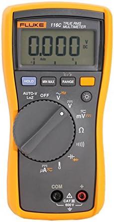 116, CAT III, 600 VAC VDC, Digital True RMS Auto Ranging Manual Ranging Multimeter
