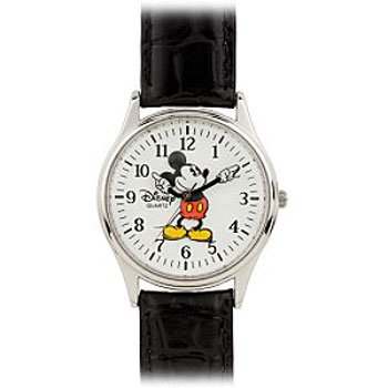 Disney Park Exclusive Mickey Mouse Mens Watch Chrome Beze...