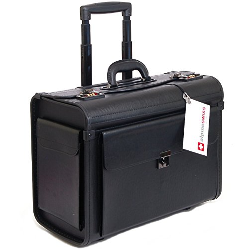 "Alpine Swiss Rolling 17"" Laptop Briefcase on Wheels Attac..."