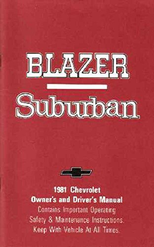 Chevrolet Blazer Suburban Owners Manual - 6