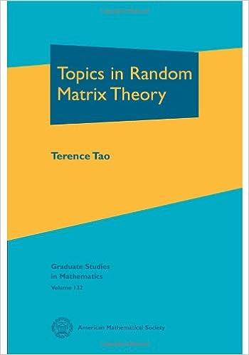 Amazon com: Topics in Random Matrix Theory (Graduate Studies in