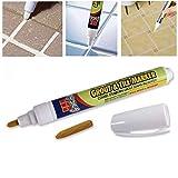 Keland White Tile Ceramic Floor Repair Grout Pen Marker Home Kitchen Grout
