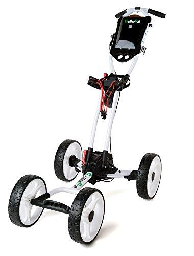 GolferPal EasyPal Electric Auto-Folding/Unfolding Golf Push Cart, White