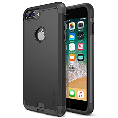 iPhone 8 Plus Case, Trianium Protanium Apple iPhone 8Plus Holster Case (2017) with Heavy Duty Protection / Shock Absorption / Dual Layer TPU + Rigid Back Armor / Anti-Resistant / Reinforced Corner from Trianium