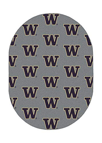 Ambient Rugs NCAA My Team College Repeating Rug Washington - 13'x18' Oval