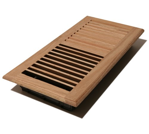 Decor Grates WL614W-U 6-Inch by 14-Inch Wood Wall Register, Unfinished Oak (Unfinished Wall Oak)