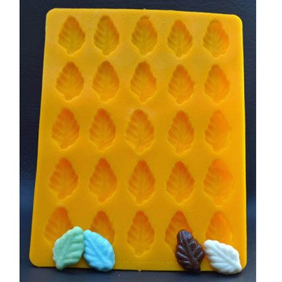 WEDDING CHRISTMAS AND EASTER LEAF YELLOW RUBBER CHOCOLATE CA