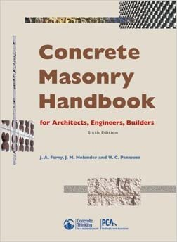 Concrete masonry handbook 6th edition jm melander and wc concrete masonry handbook 6th edition jm melander and wc panarese ja farny amazon books fandeluxe Choice Image