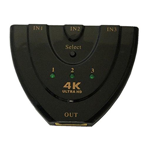 Hdtv Hub - 4K2K 3D Mini 3 Port HD Switch 1.4b 4K Switcher HD Splitter 3 in 1 out Port Hub for DVD HDTV Xbox 1080P Regard