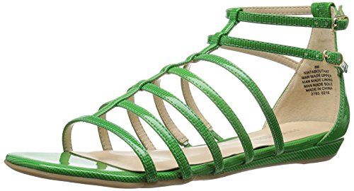 Nine West Women's Aboutthat Synthetic Dress Sandal, Green, 35.5 B(M) EU/3.5 B(M) UK