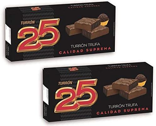 Turron25 - Pack 2 Turron de Trufa - Calidad Superior 200gr - Sin Gluten - Producto Español: Amazon.es: Alimentación y bebidas